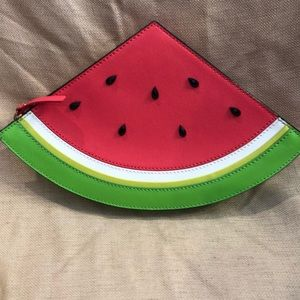 Kate Spade leather watermelon clutch